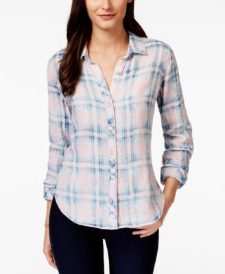Olive + Sloane Plaid Shirt, Only at Vogily