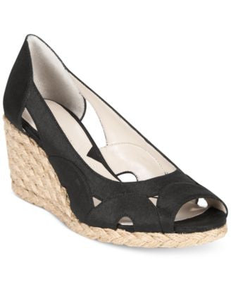 Adrienne Vittadini Bounce Espadrille Wedge Sandals