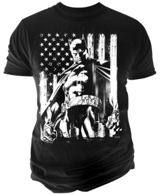Changes Men's Batman American Flag T-Shirt