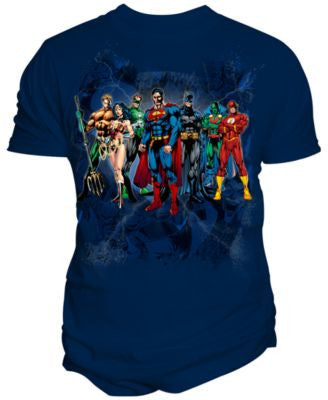 Changes Men's Justice League Elite Line-Up T-Shirt