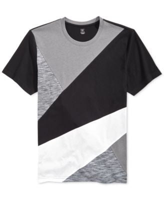 INC International Concepts Men's Collage Colorblocked T-Shirt, Only at Vogily