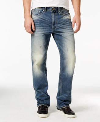 Sean John Men's Hamilton Relaxed Fit Jeans, Sunbleached