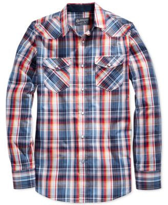 American Rag Men's Multicolored Plaid Shirt