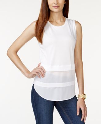MICHAEL Michael Kors Petite Sleeveless Scoop-Neck Top