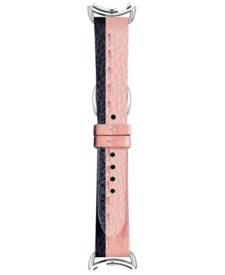 Fendi Timepieces Women's Selleria Black & Rose Leather Watch Strap S03RR17RA7S