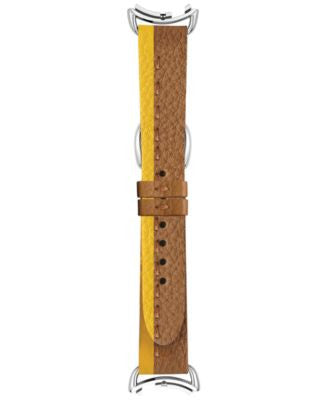 Fendi Timepieces Women's Selleria Yellow & Brown Leather Watch Strap S03RR17RA2S