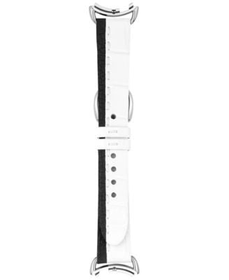 Fendi Timepieces Women's Selleria Black and White Leather Watch Strap S03AR17RA4S