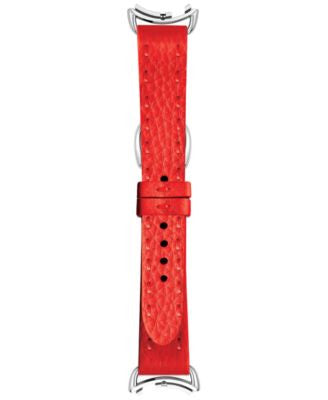 Fendi Timepieces Women's Selleria Red Leather Watch Strap S02RR17RB7S