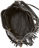 Fossil Jules Fringe Leather Drawstring Mini Bag
