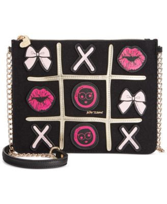 Betsey Johnson Tic Tac Toe Crossbody