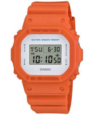 G-Shock Men's Digital Orange Bracelet Watch 43mm DW5600M-4