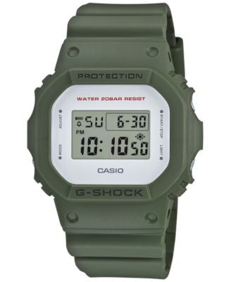 G-Shock Men's Digital Green Bracelet Watch 43mm DW5600M-3