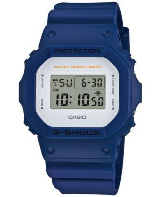 G-Shock Men's Digital Blue Bracelet Watch 43mm DW5600M-2