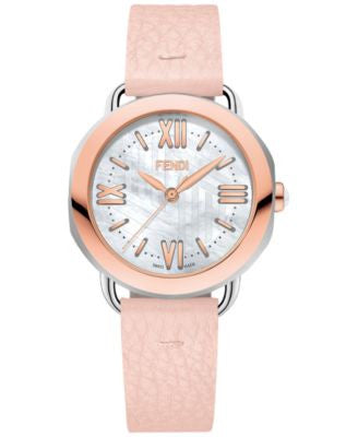 Fendi Timepieces Women's Swiss Selleria Rose Leather Strap Watch 36mm F8032345A7