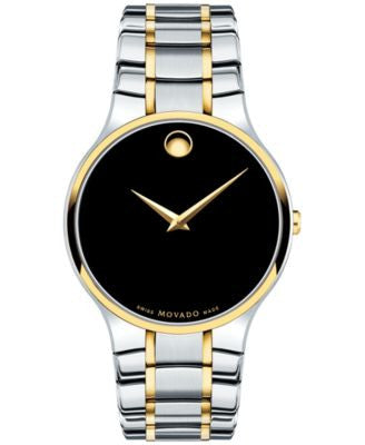 Movado Men's Swiss Serio Two-Tone PVD Stainless Steel Bracelet Watch 38mm 0606901