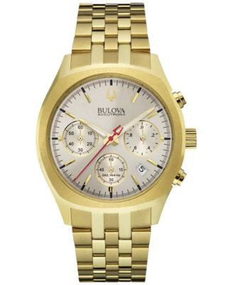 Bulova Accutron II Men's Chronograph Surveyor Gold-Tone Stainless Steel Bracelet Watch 41mm 97B150