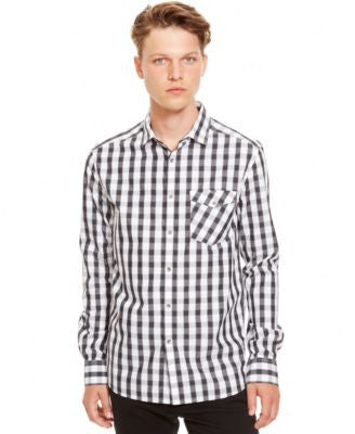 Kenneth Cole Reaction Check Long-Sleeve Shirt