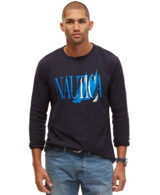 Nautica Big and Tall Sailboat Logo T-Shirt
