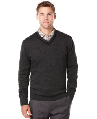 Perry Ellis Texture V-Neck Sweater