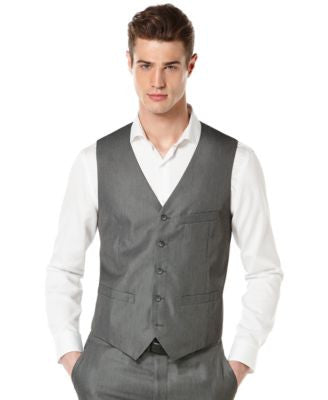 Perry Ellis Big and Tall Micro Heather Twill Vest