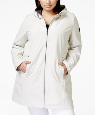 Calvin Klein Plus Size Hooded Water-Resistant Softshell Jacket