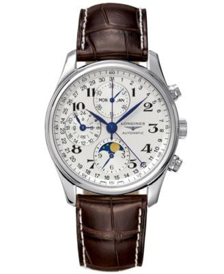 Longines Watch, The Master Collection Automatic Moon Phase Chronograph L26734783