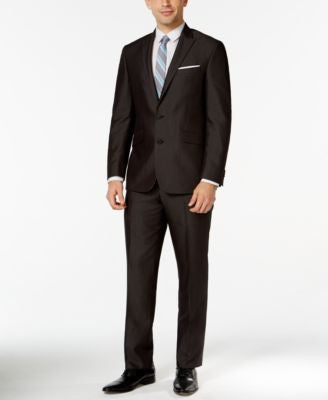 Kenneth Cole Reaction Black Micro-Stripe Slim-Fit Suit