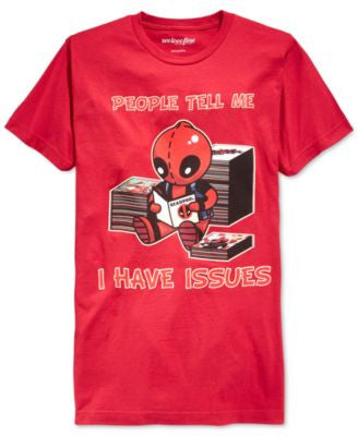 Mighty Fine Deadpool People Tell Me I Have Issues Short-Sleeve T-Shirt