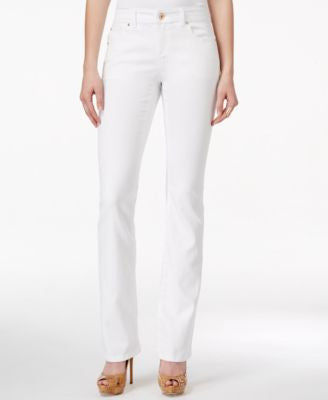 INC International Concepts Petite Bootcut White Wash Jeans, Only at Vogily