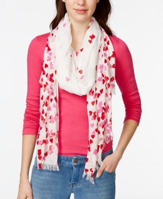 kate spade new york Falling Hearts Scarf