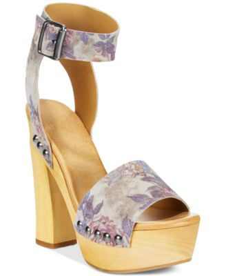 Mojo Moxy Wildflower Wooden Platform Sandals