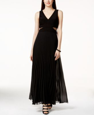 XSCAPE Illusion Sleeveless Evening Gown
