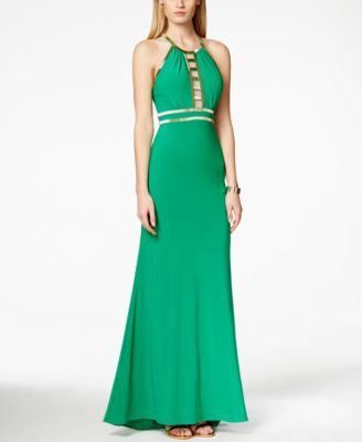 Xscape Embellished Cutout Gown