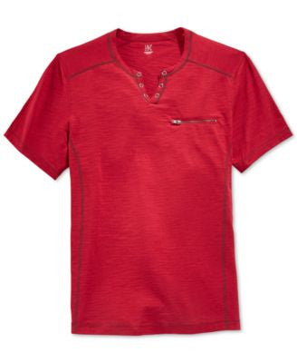 INC International Concepts Men's Dean Split-Neck T-Shirt, Only at Vogily