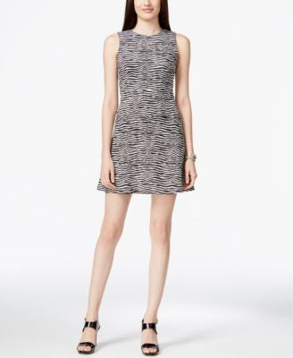 MICHAEL Michael Kors Sleeveless Printed Fit & Flare Dress