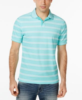 Club Room Performance UV Protection Short-Sleeve Stripe Polo, Only at Vogily