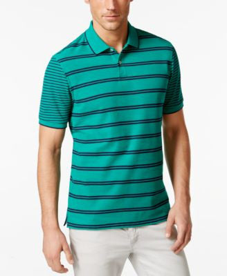 Club Room Short-Sleeve Striped Polo