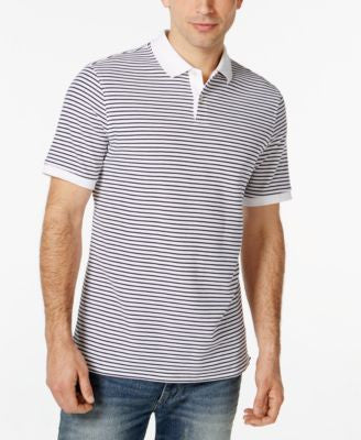 Club Room Men's Big & Tall Feeder-Stripe Polo, Only at Vogily
