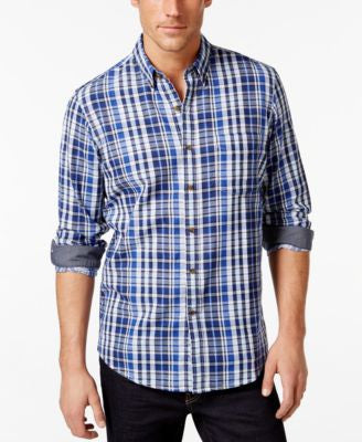Club Room Big and Tall Woodbine Plaid Shirt, Only at Vogily