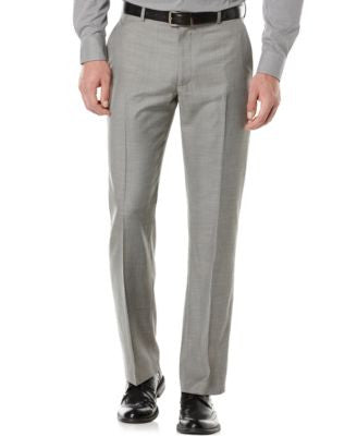 Perry Ellis Solid Twill Dress Pants