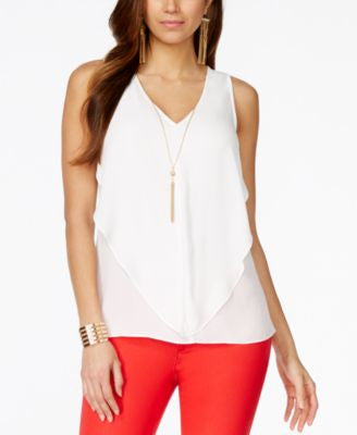 Thalia Sodi Embellished Cascade Sleeveless Top, Only at Vogily