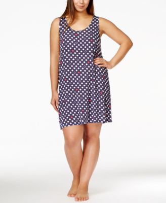 Jenni by Jennifer Moore Plus Size Hearts & Dots Chemise, Only at Vogily