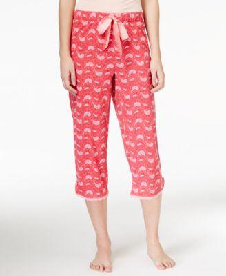 Jenni by Jennifer Moore Cropped Bird-Print Pajama Pants, Only at Vogily