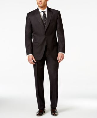 Sean John Black Texture Classic-Fit Suit Separates