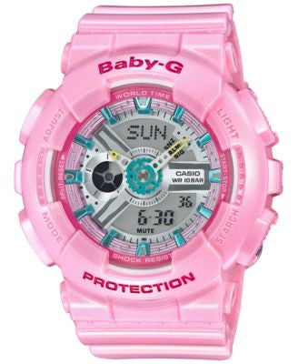 Baby-G Women's Analog-Digital Pink Strap Watch 46x43mm BA110CA-4A
