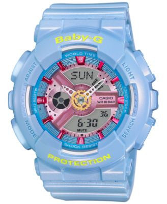 Baby-G Women's Analog-Digital Blue Strap Watch 46x43mm BA110CA-2A