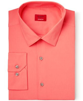 Alfani Spectrum Slim-Fit Georgia Peach Dress Shirt, Only at Vogily