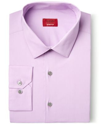 Alfani Spectrum Slim-Fit Ice Purple Dress Shirt, Only at Vogily