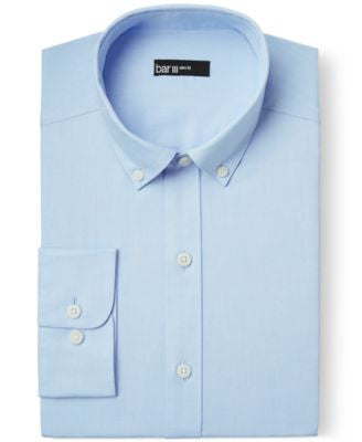 Bar III Slim-Fit Light Blue Oxford Dress Shirt, Only at Vogily