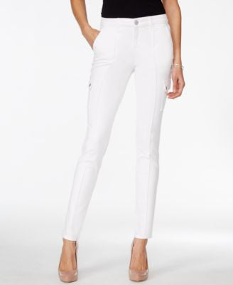 Style & Co. Petite White Cargo Jeggings, Only at Vogily